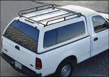 Short bed Canopy Ladder Rack For Camper Tops, Vans & Tonneau Covers on camper shell