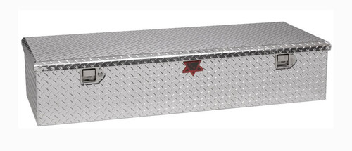 Low Profile RV-5th Wheel Tailgate Chest Truck Toolbox in brite aluminum