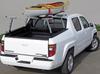 Honda Ridgeline Utility  Ladder Rack has cargo bumpers near the end of each crossbar so prevent cargo from sliding (canoe NOT included)