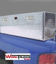 High Cube Single Drop Down Lid Topsider Truck Toolbox is available in six lengths