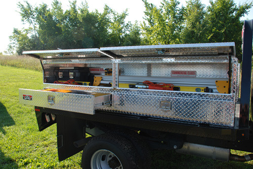 Brute High Capacity Flat Bed Stake Bed Topsider Truck Tool