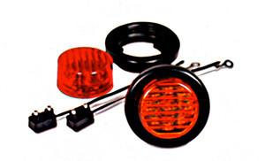 """2"""" Round Red LED Sealed Marker Light Kit"""