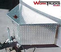 Model 4818 Flat Lid High Capacity Trailer, Truck, ATV, Waverunner, RV Tongue Toolbox mounted to trailer tongue