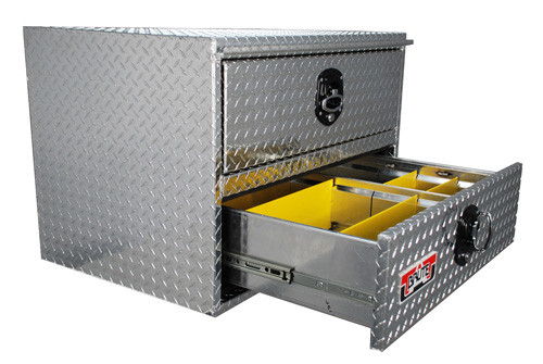 Brute heavy duty under body tool box with drawers features drawers with adjustable dividers
