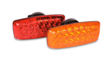 Portable Battery Operated LED Magnetic Safety Light Set is available in either red or amber