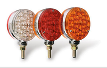 "4"" Round LED Pedestal Light Set comes in three light color configurations."
