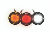 "1"" Round Professional Quality LED High Power Strobe Lights is available in amber, red or white"