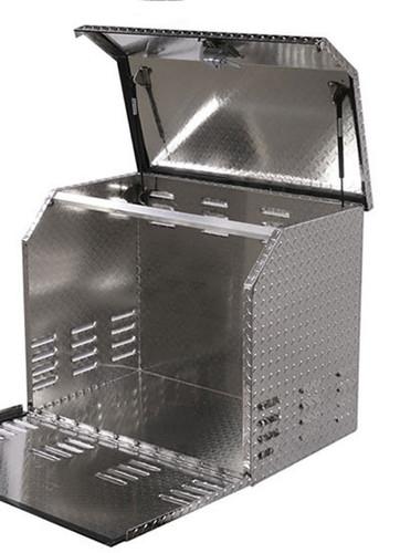 Heavy Duty Truck, Trailer, RV Diamond Tread Aluminum Generator Box