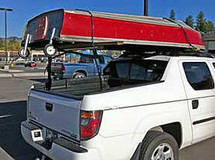 Honda Ridgeline Solo Rear Rack Truck Ladder Rack can carry your kayaks, canoes, etc (not included)
