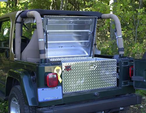Diamond Plate Aluminum Jeep Utility Job Box