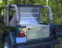 Diamond Plate Aluminum Jeep Utility Job Box