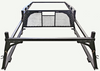 Off truck Forklift Accessible Super Heavy Duty Truck Rack showing fabrication and cab guard