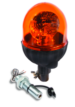 Pole Mount Amber Rotating Beacon Light emits 55 watts of light
