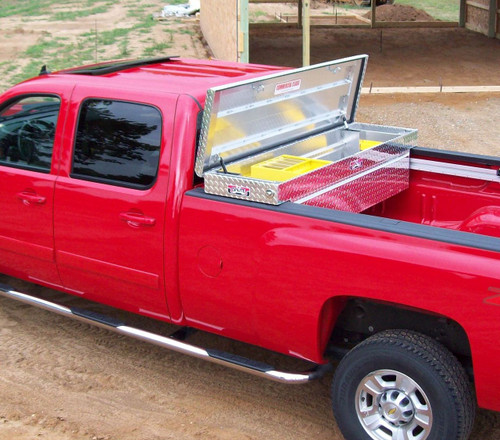 Brute Commercial Class Full Lid Crossover Toolbox is manufactured for rugged contractor use