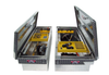Brute Commercial Class Full Lid Crossover Toolboxes are available in seven sizes to fit most trucks.  Tools shown not included.