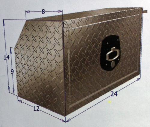 Brute Heavy Duty 14 Inch Drop Down Door Bed Delete Under Body Boxes - model 1 dimensions shown