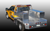 """Brute Heavy Duty Flatbed Top Sider Tool Box With Drawer shown with modular configuration.   This features our 88"""" Drawer Flatbed Top Sider with our 88"""" Heavy Duty High Capacity Topsider mounted on top.  This is for illustrative purposes only.  The High Capacity Topsider would have to be purchased separately."""