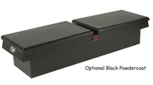 Wide and Deep Crossover Gull Wing Diamond Plate Toolbox in black powder coat