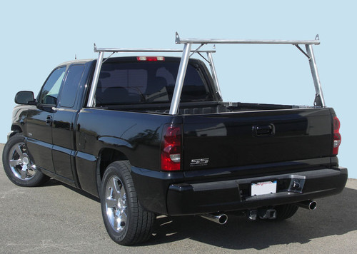 Clipper Aluminum & Stainless Steel Ladder, Lumber, Kayak Truck Rack on fleetside truck