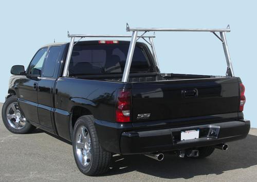Clipper Aluminum & Stainless Steel Ladder, Lumber, Kayak Truck Rack on fleetside truck