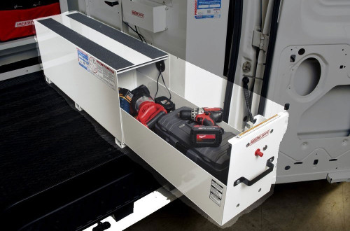 Pack Rat™ Drawer Unit For Power Tool Charging can be mounted in various ways to suit your particular needs