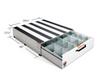Pack Rat™ Model 338-3 Drawer Toolbox dimensions