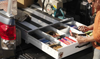 Pack Rat™ Model 338-3 Drawer Toolbox allows you to configure the storage space as your needs require (tools, etc NOT included)