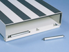 Stop brackets on our Pack Rat™ Model 312-3 Short And Wide Drawer Toolbox keep drawers from sliding all the way out.