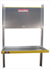 Single Brute Aluminum Folding Shelving for Cube Vans, Box Vans and Cargo Trailers unit with top shelf closed