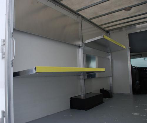 Brute Aluminum Folding Shelving for Cube Vans, Box Vans and Cargo Trailers