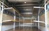 Brute Aluminum folding shelves installed in box truck