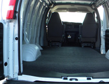 Ford Econoline E-Series BEDRUG VanRug Cargo Van Mat is molded to fit the contours of the 1992-2014 Ford Econolpne E-Series Vans