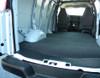 Ford Econoline E-Series BEDRUG VanRug Cargo Van Mat installs under door step and rear plastic shroud