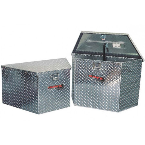 ATV Camper Diamond Plate Aluminum Utility Trailer Tongue Box - Two sizes available