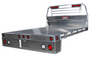 Bed Delete or Chassis Cab Aluminum Flatbed with square rear corners