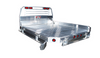 "Aluminum Flatbed with drop down take off style sides - available in 6"" or 12"" heights.  .125 SMF aluminum, aluminum hinges and stainless steel hardware."