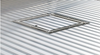 "Optional Gooseneck Trap Door - 16"" finished opening made of extruded aluminum and double hinged.  Lays flat when open."