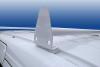 Aluminum 2-Bar Mini Van Utility Ladder Rack mounts using factory roof rails.