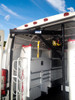 Electric Crane/Van Hoist for KUV/KUVcc Bodies, Commercial & Cargo Vans has a 500 pound load capacity with a 3000 pound rated electric winch with a remote control for ease of operation.   It also has a rugged, single piece boom. (Other items in photos are NOT included.)