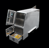 Brute Heavy Duty Backpack Truck Toolbox With Storage Drawers on the base of the unit on both sides.  Drawers have removable dividers so you can organize your smaller tools, supplies or parts.
