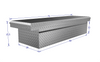 Brute Commercial Class Low Profile Full Lid Crossover Tool Box dimensions.