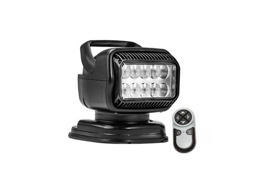 GoLight® RadioRay Series Portable Magnetic Mount Remote Control 40W LED Black Spot Beam Searchlight