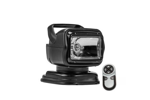 GoLight® GT RadioRay® Black Portable Magnetic Base Remote Control Halogen Searchlight