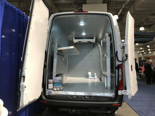 Brute Sprinter Van Aluminum Folding Shelving