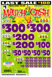 MATCH FOR CASH UV
