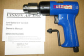 "Pneumatic Air Drill 3/8"" Jacobs Chuck Vision Air VA-D380"