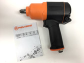 "Pneumatic Impact Wrench 1/2"" Square Drive Pneutrend 24285"