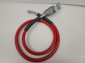 "Pneumatic Whip Hose 6' Length 1/2"" Hose with L-1 Swivel In-Line Oiler &  CP Fitting"