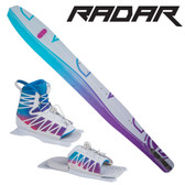 "Radar Women's Butter Knife Slalom 65"" with Lyric Binding & Adj Rear Toe Plate 2018 ON SALE!"