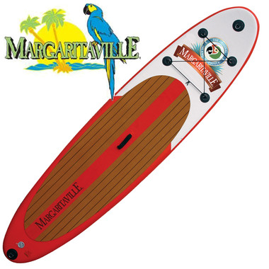 "Margaritaville 10'6"" Inflatable Stand Up Paddleboard with Adjustable Paddle"